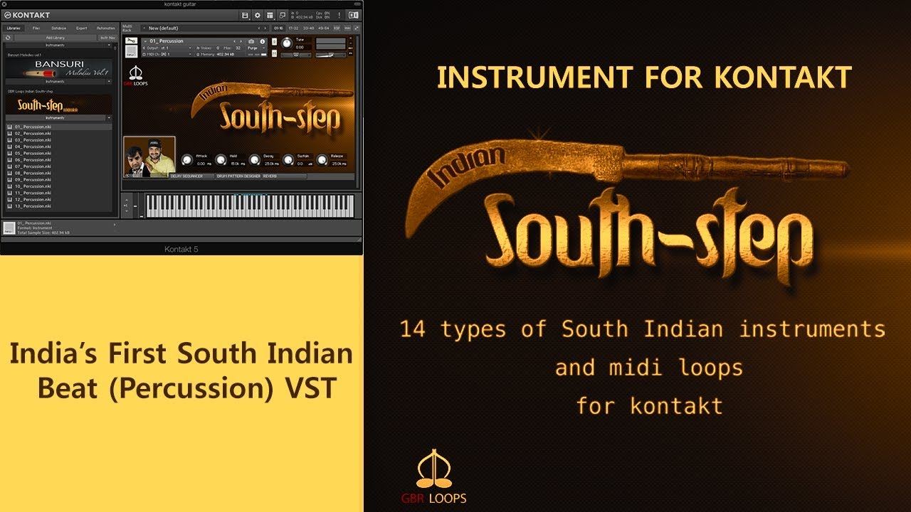 Indian South step Tutorial (South Indian beat Percussion VST)