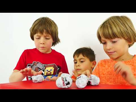 #StarWars Yumurtaları. Türkçe süper oyunlar - erkek çocuk videoları Arseny, Adrian ve Mikayil ile