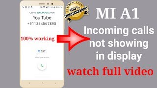 Incoming calls are not showing in display || Problem solve only 2 minutes