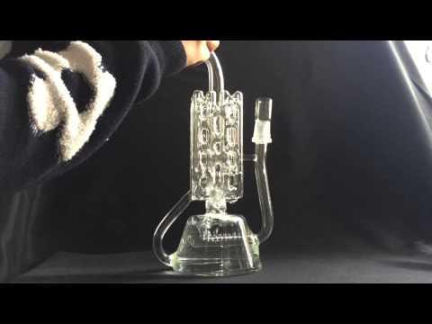 710 Oil Rig  Glass Bong Recycler Fab Egg Glass Bongs Water Pipe Oil Rig Dabber