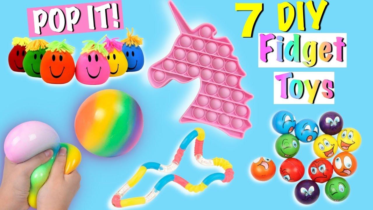 7 DIY EASY FIDGET TOYS IDEAS - VIRAL TIKTOK VIDEOS - Ice cream POP IT, Antistress Balloons and more.