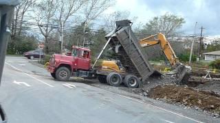 old Mack dump truck