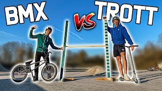 TROTINETTE VS VÉLO | Qui sautera le plus haut ? (Ft. Scoot2street )