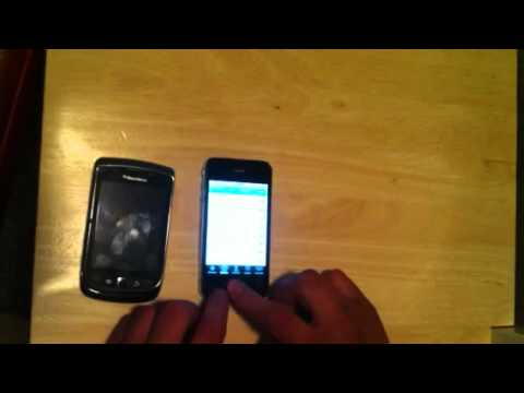 iPhone 4 vs blackberry torch 9800