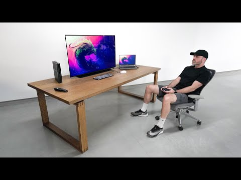 New 48-inch Massive OLED Desk Setup