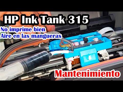 ✌No imprime nada, aire en las mangueras - Impresora HP Ink Tank 315 - Mantenimiento
