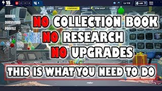 No collection book, research or upgrades After buying Fortnite Save the world