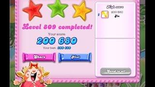 Candy Crush Saga Level 809   ★★★   NO BOOSTER