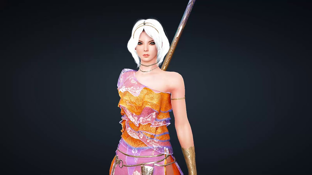 Maehwa Peach Blossom Awakening Weaon with outfit Premium Set Black Desert