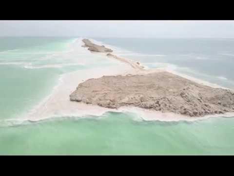 Flying my drone above the Dead Sea area (retro version)
