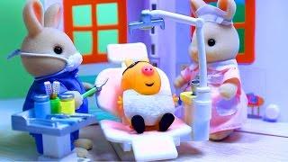 Peppa Pig. Свинка Пеппа. Мультфильм с игрушками. Зубной кабинет доктора Зайца .(Мультфильмы для детей про свинку Пеппу и её друзей. Дети играют в детском саду. У пони Педро разболелся..., 2015-10-16T07:57:35.000Z)