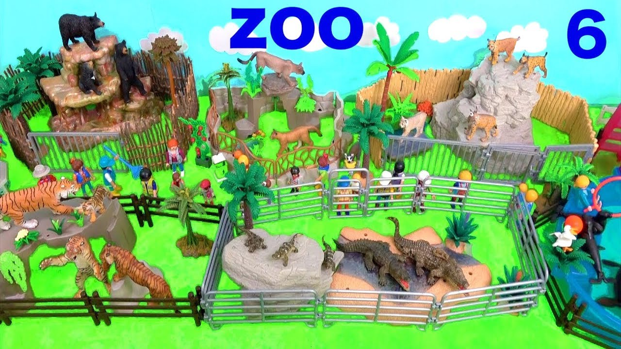 Wild Zoo Animal Toys For Kids Learn Animal Names And