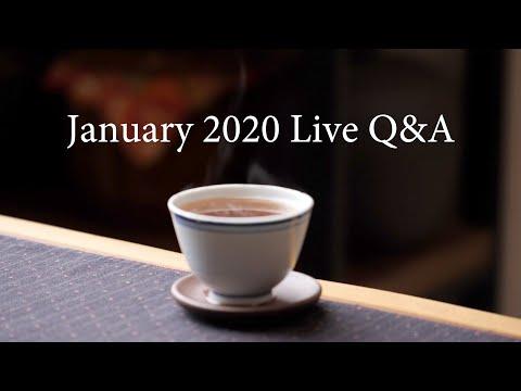 Tea & Diet, Gongfu Tea, Chabana. Your Questions Answered: January 2020 Live Q&A