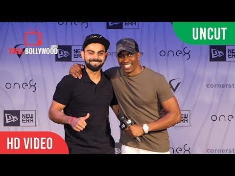 UNCUT - Virat's New Signature Headwear Collection Launch With Dwayne Bravo