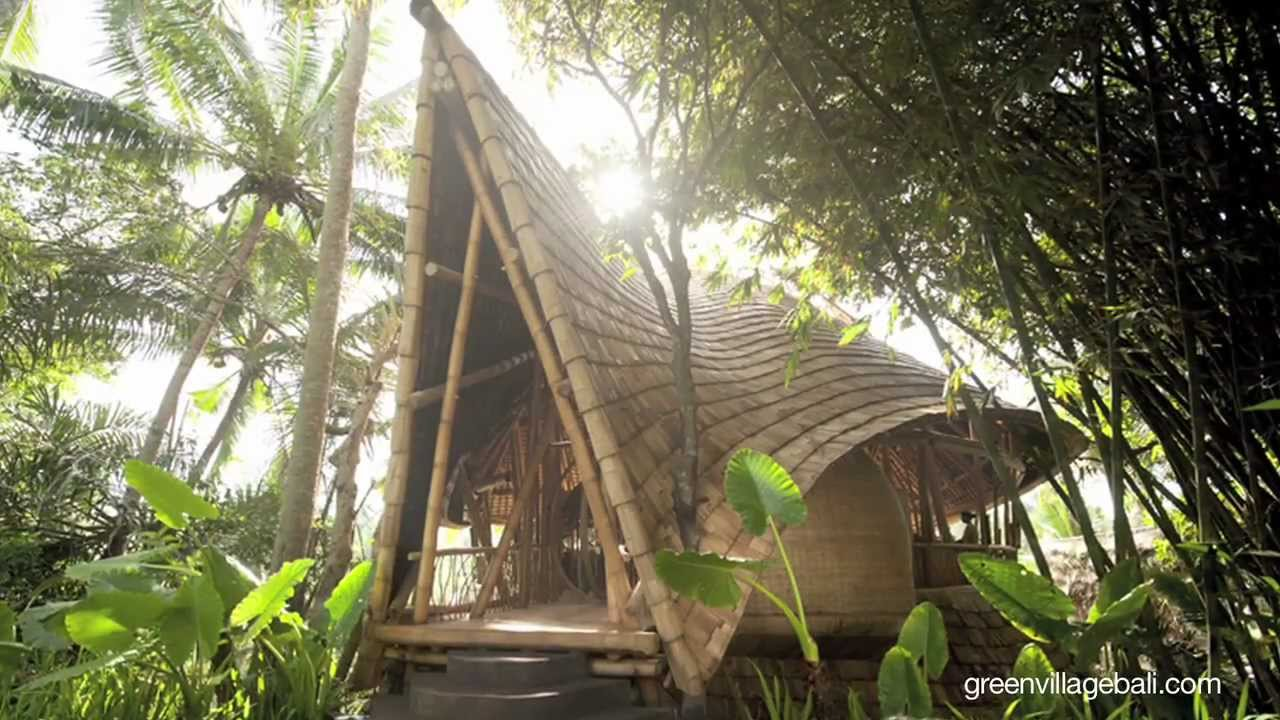 bamboo architecture of green village, bali - youtube