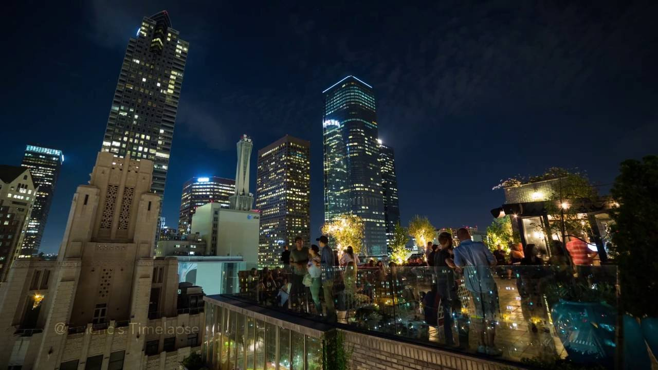 Downtown Los Angeles From Perch La - 4k Timelapse