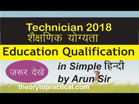 Education qualification for Technician post