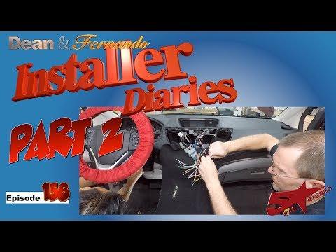 We finish a Carplay upgrade in a Honda CRV, next the steering wheel controls  installer Diaries 158