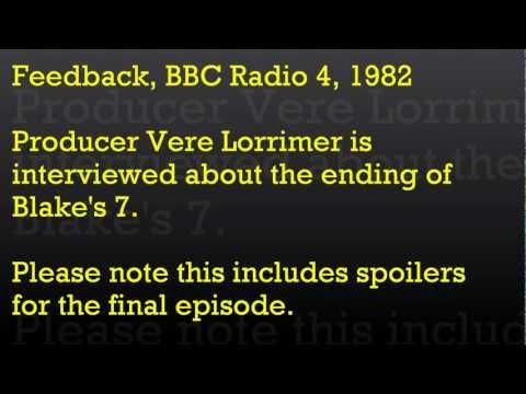 Radio Archive: Feedback: Blake's 7 Ending
