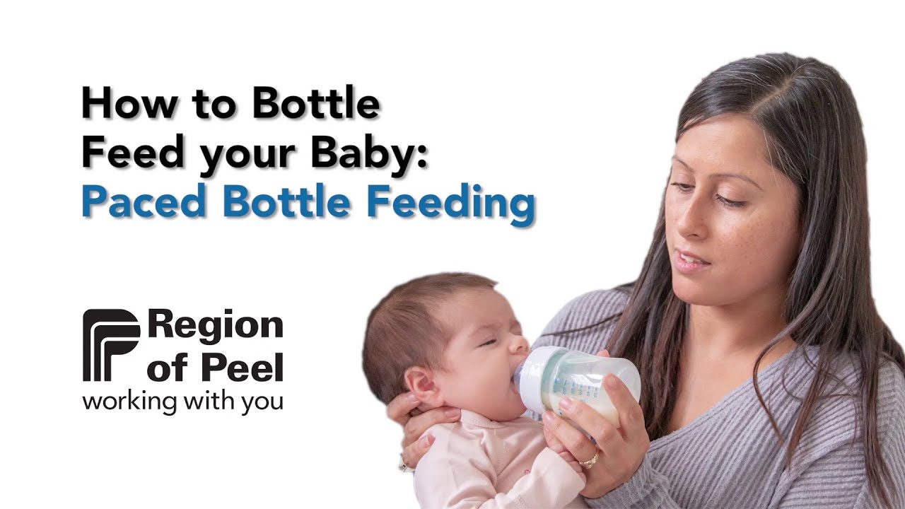 How to Bottle Feed your Baby: Paced Bottle Feeding - YouTube