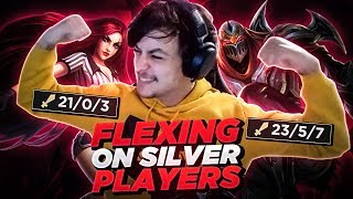 LL STYLISH | FLEXING ON SILVER PLAYERS!! (UNRANKED TO CHALLENGER)