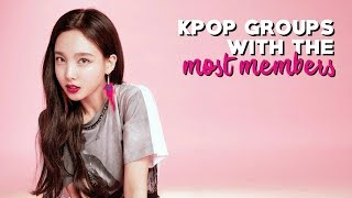 KPop Groups With The Most Members