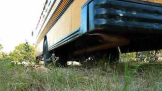 GMC Blue Bird school bus Outside Air Brakes and Exhaust