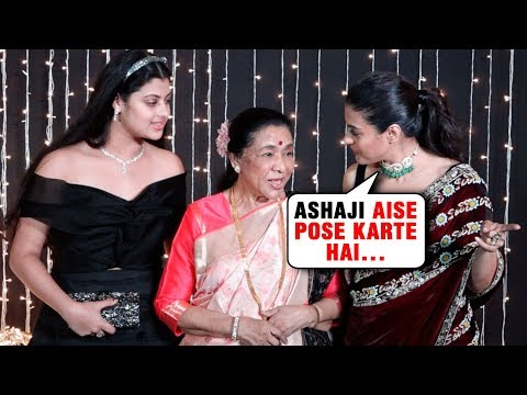 Kajol Teaches Asha Bhosle How To Pose For Media At Priyanka Nick Mumbai Wedding Reception 2018