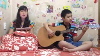 Con kênh xanh xanh (guitar cover) - Khánh Bốp và mẹ Thảo