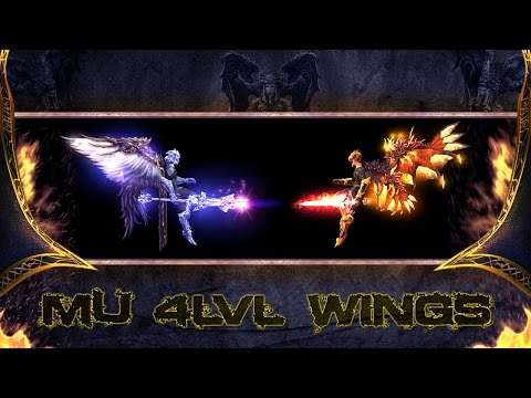 Wings of Conqueror and Wings of Devil & Angel - Mu Online 4 Level Wings