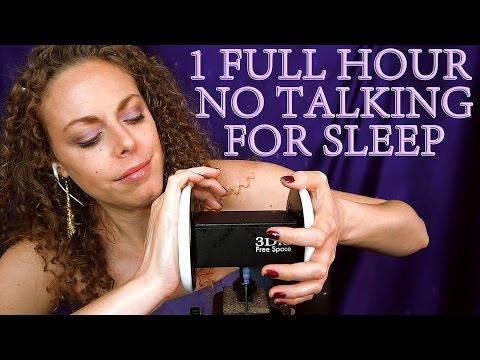 ZZzzzzz….. 1 Hour ASMR Ear Massage No Talking w/ Oil & Lotion For Sleep