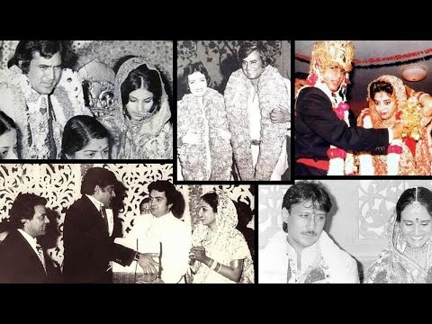 Rare Pictures Of  Bollywood Celebs Wedding