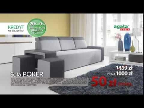 Agata Meble Pierwszą Ratę Płacimy Za Ciebie Sofa Poker