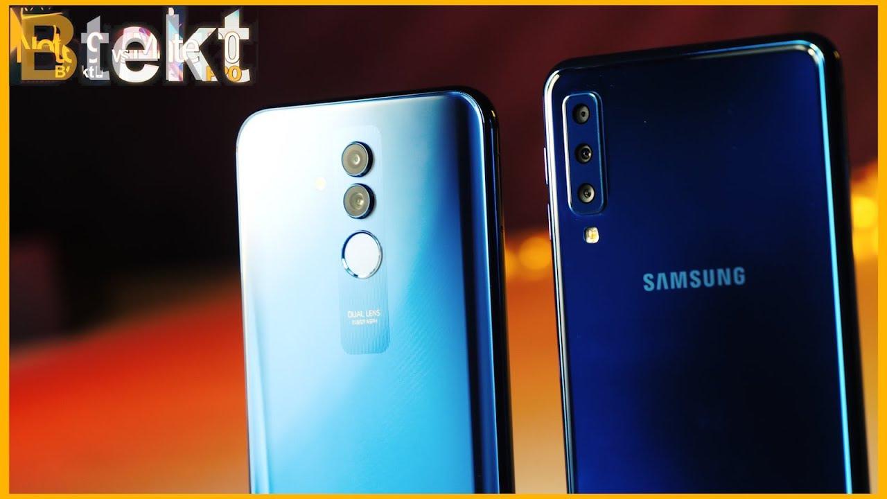 Samsung Vs Huawei Mate 20 Lite Vs Galaxy A7 Full Comparison Youtube