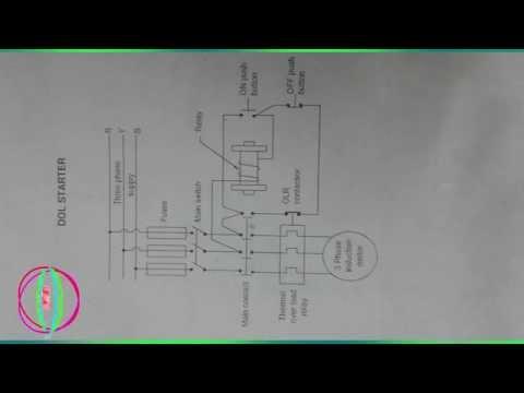 circuit diagram for dol starter hold on contact circuit direct online starter dol starter control diagram working and on circuit diagram for dol starter