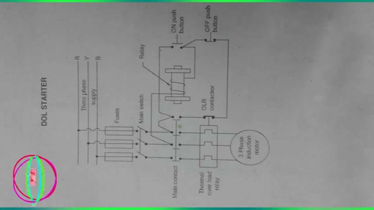 Dol starter circuit diagram books direct online starter youtube cheapraybanclubmaster Choice Image