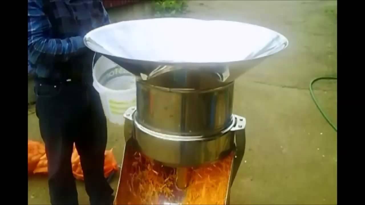 Vegetable cutting machine presentation - YouTube