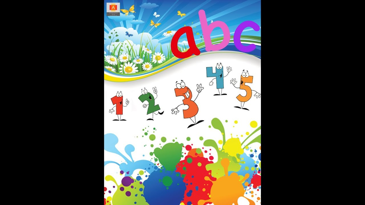 Book Cover Nursery Art : An introduction to the alphabet numbers and colors youtube