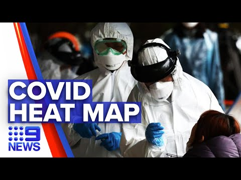 Coronavirus: New Heat Map For COVID-19 Cases | Nine News Australia