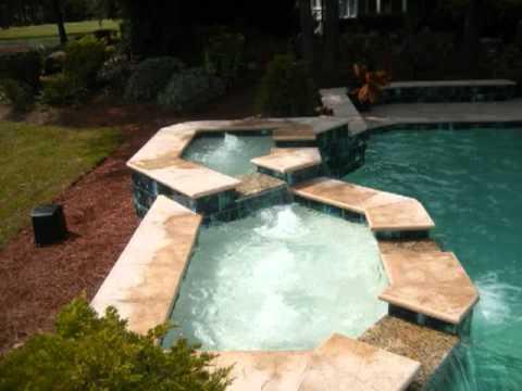 inground pools myrtle beach swimming pool designs ideas for backyard installainstalltion youtube. Black Bedroom Furniture Sets. Home Design Ideas