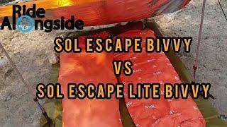 Review Comparison Sol Escape Bivvy Vs Sol Escape Lite Bivvy