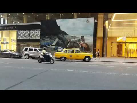Antique NYC Yellow Taxi Spotted On Madison Ave In Midtown, Manhattan, New York