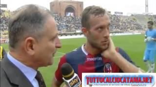 GUARENTE: dichiarazioni fine primo tempo Bologna-Catania