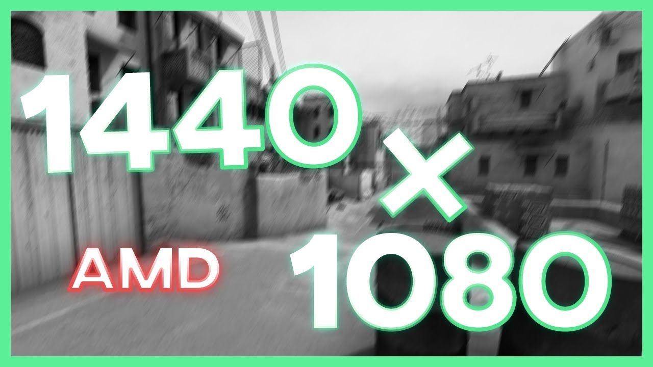 HOW TO: CSGO 1440x1080 4:3 RESOLUTION [AMD]