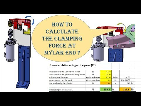 HOW TO CALCULATE CLAMPING FORCE AT MYLAR END [PNEUMATIC CYLINDER VALIDATION  PART -002]