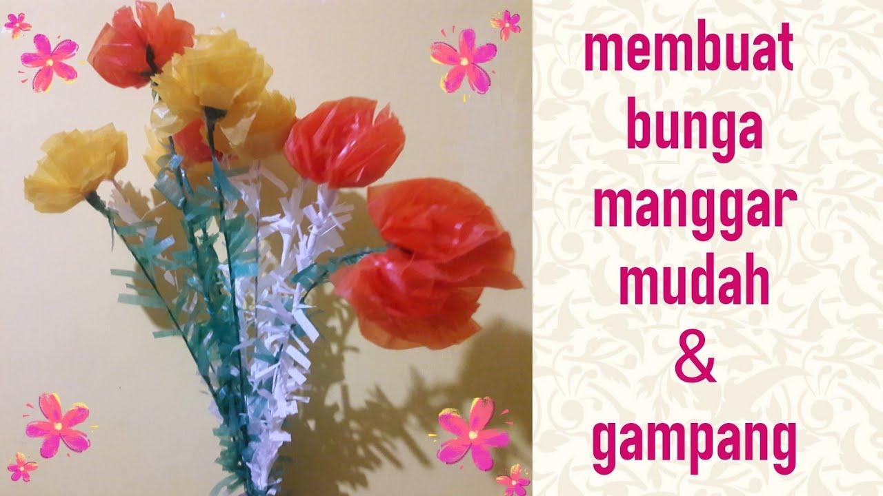 Membuat Bunga Manggar Dari Kertas Minyak Kerajinan Tangan Mudah Gampang Youtube