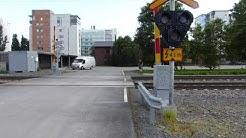 Helsinki-Oulu juna ohittaa seinäjoen tasoristeyksen nimellä S52