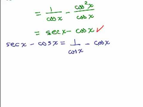 Prove Basic Trig Identities Part 1 - YouTube