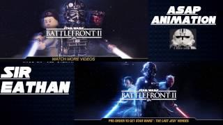 Lego Star Wars Battlefront 2 Trailer Side by Side ft. Asap Animation