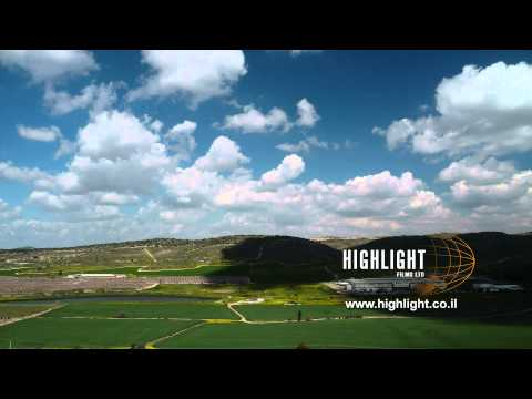 TI_012 Highlight Films Israel footage store: Time lapse of clouds over Judean Hills